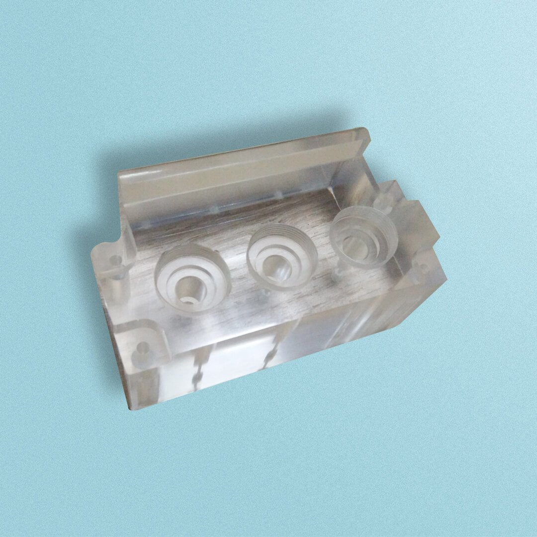 CNC milling with clear PMMA material - Custom Rapid Prototyping CNC Machined Metal Parts